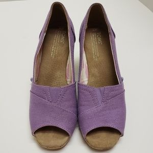 Toms Shoes - TOMS | Canvas/Cork Wedges | Size 7